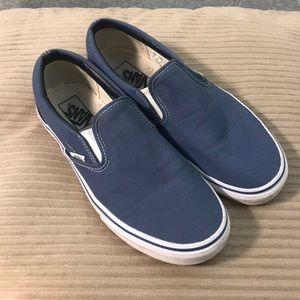 Blue Slip-On Vans Shoes
